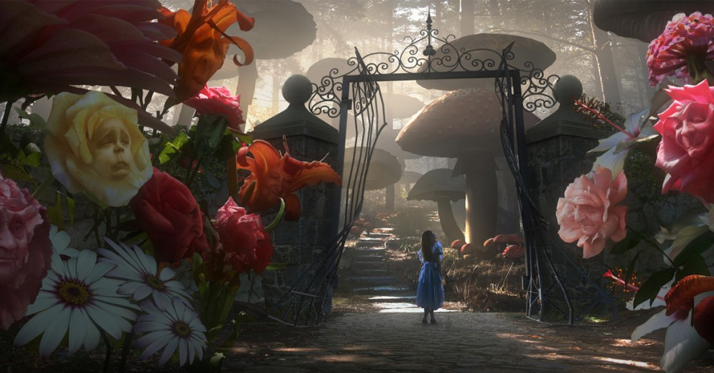 Alice no País das Maravilhas - Jardim das Flores Vivas - T. Burton (2010)
